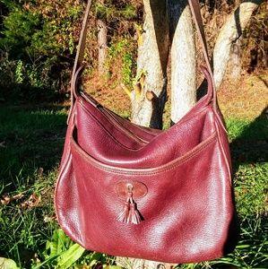 Etienne Aigner Vintage Burgundy Leather Purse